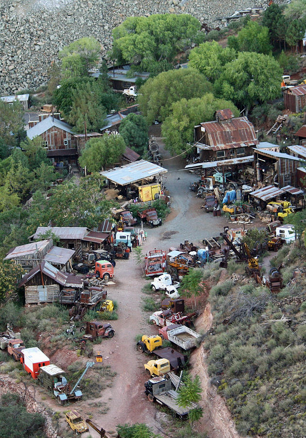 Ghost Towns Photograph - Truckville by Gardie Lueders