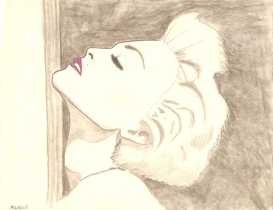 Madonna Drawing - True Blue by Michelle Kinzler