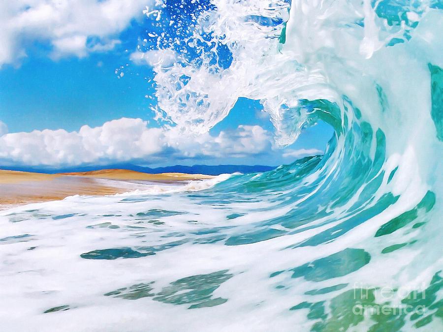 Ocean Painting - True Blue by Paul Topp