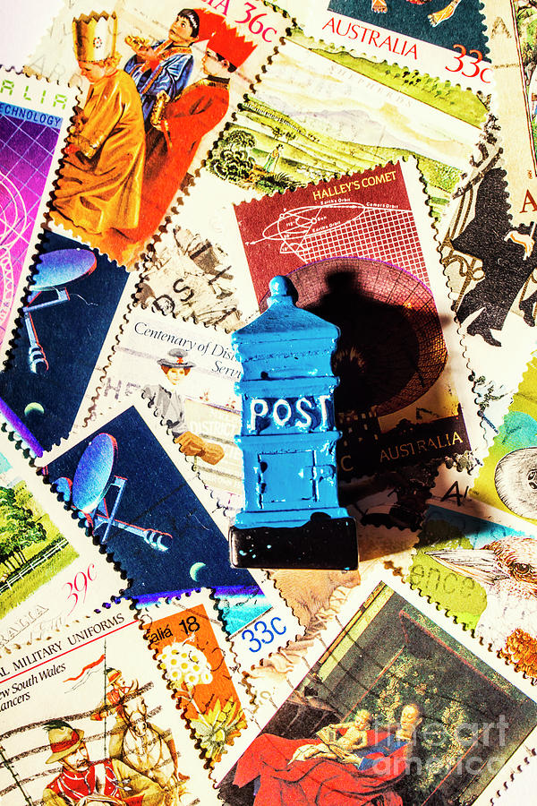 Mail Photograph - True Blue Postbox by Jorgo Photography - Wall Art Gallery