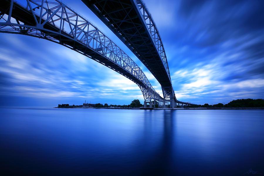 Port Photograph - True Blue View by Gordon Dean II