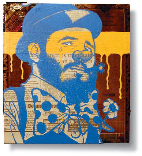 Portrait Painting - True Colors -fidel Castro- Clown by Ruben  Ubiera