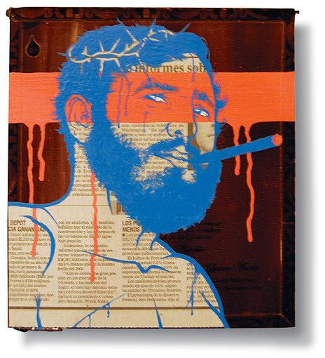 Portrait Painting - True Colors -fidel Castro- Jesus by Ruben  Ubiera