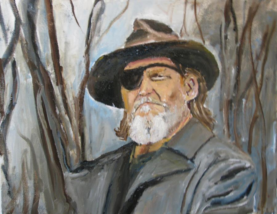 True Grit Jeff Bridges Actors Portraits Movies People Oil Painting Portraits Painting - True Grit Jeff Bridges by Udi Peled