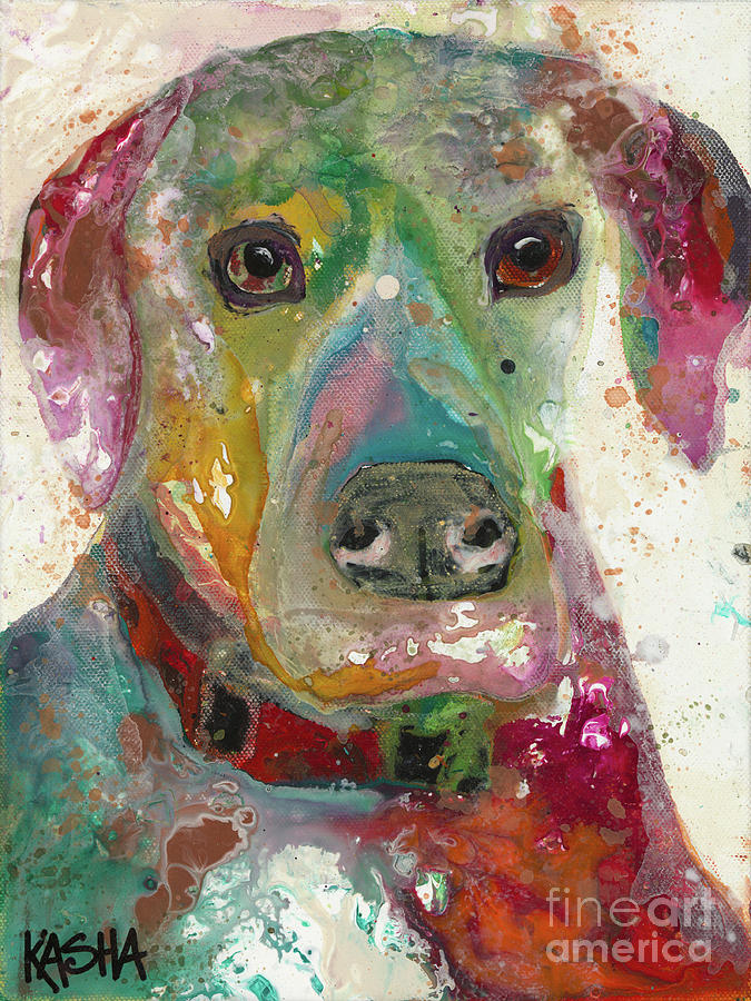 Dog Painting - True Hue by Kasha Ritter
