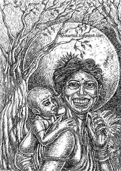 Landscape Drawing - True Love by ANIKARTICK Azhagarsamy