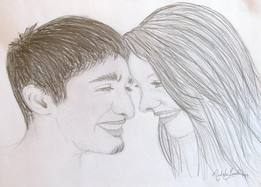 Sketch Drawing - True Love by Michele Leech