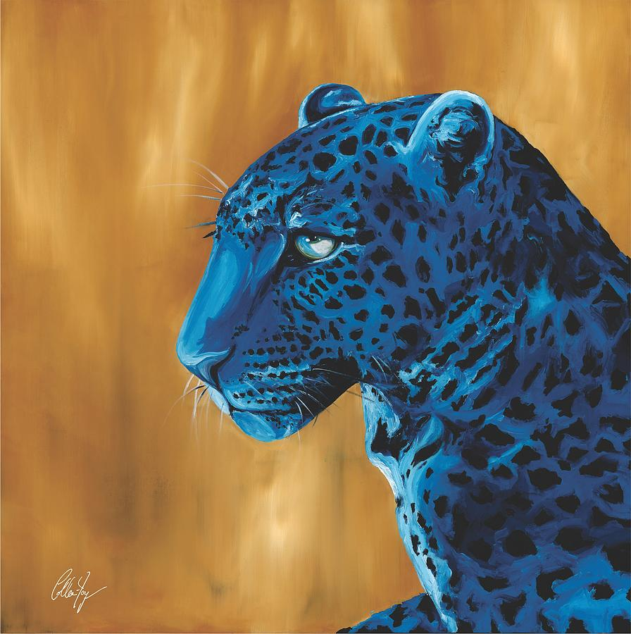 True Seeing Blue Leopard Painting By Colleen Joy Page