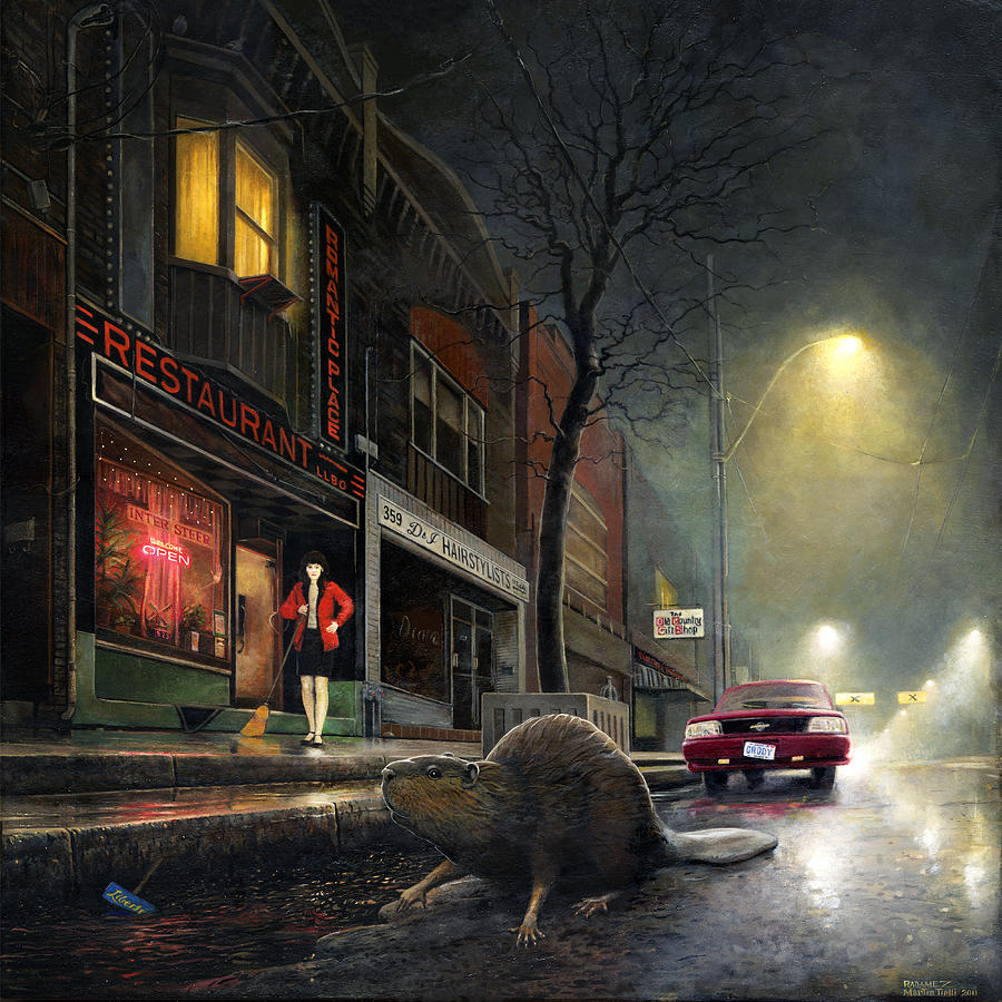 Beaver Painting - True Story by Martin Tielli