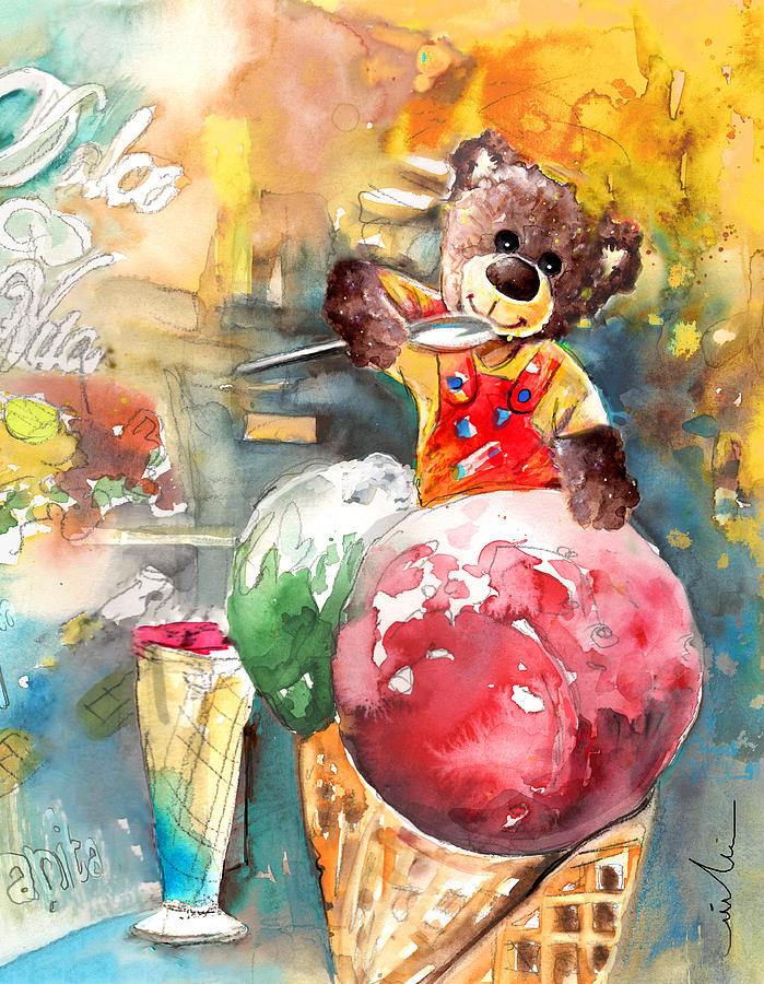 Truffle Mcfurry Eating Strawberry And Peppermint Ice Cream