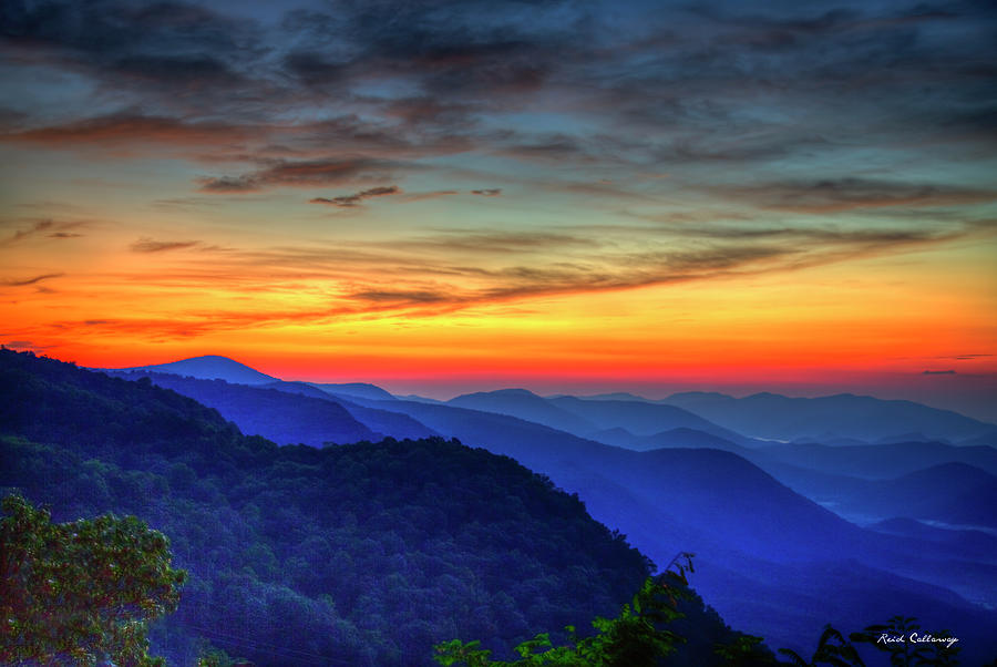 Majestic Blue Ridges Pretty A Place Chapel Sunrise Great Smoky Mountains Art by Reid Callaway