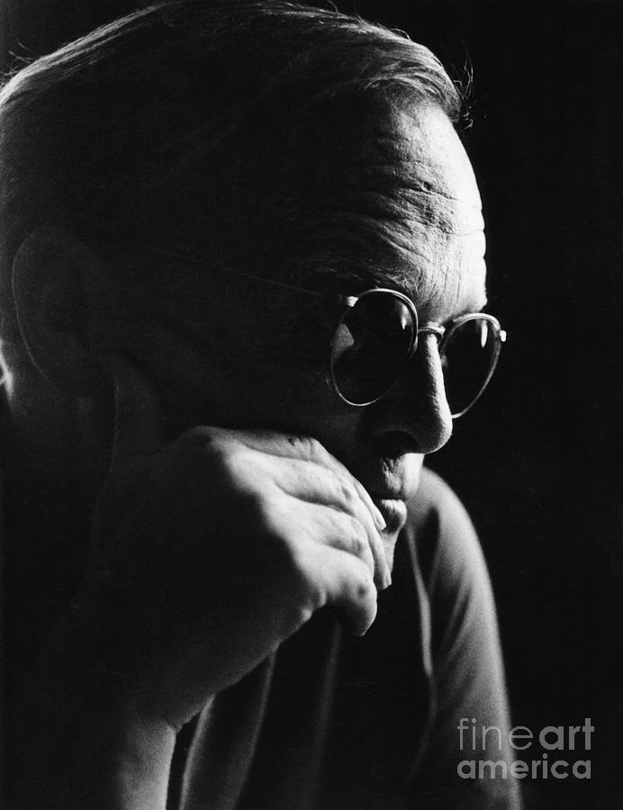 Black And White Photograph - Truman Capote Famed Author Novelist Fine Art Print by Globe Photos