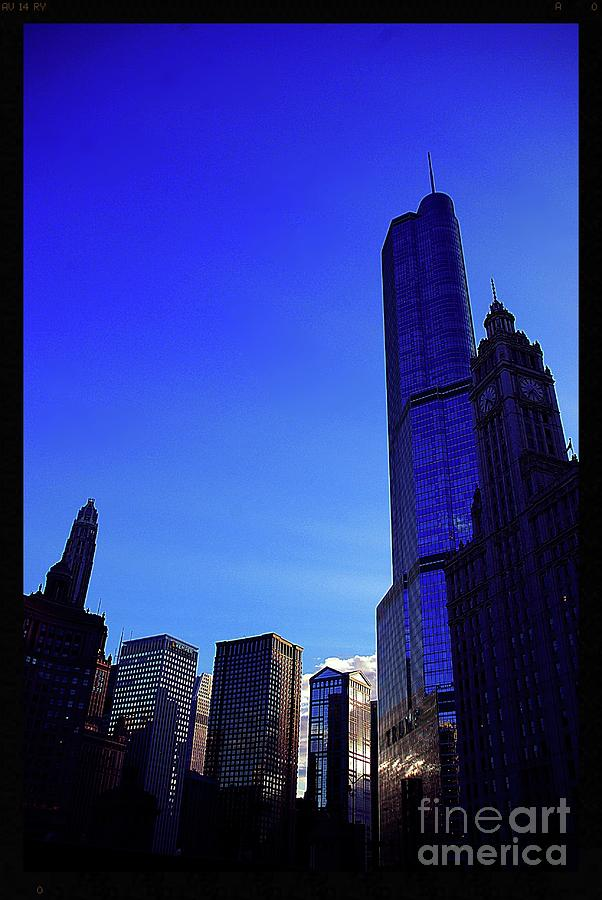Skyscrapers Photograph - Trump International Hotel and Tower Chicago at Sunset by Frank J Casella
