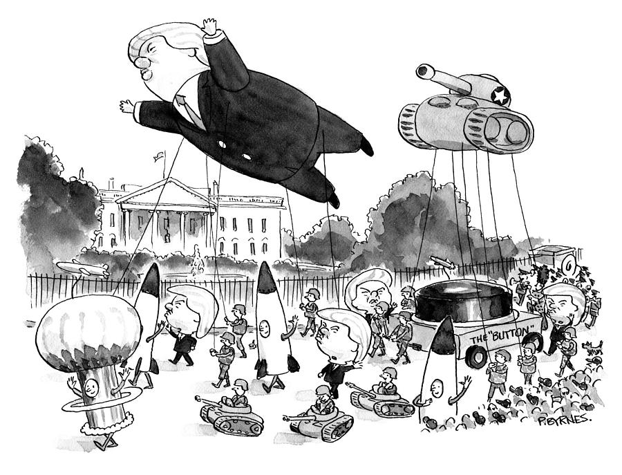 Trump Parade Drawing by Pat Brynes