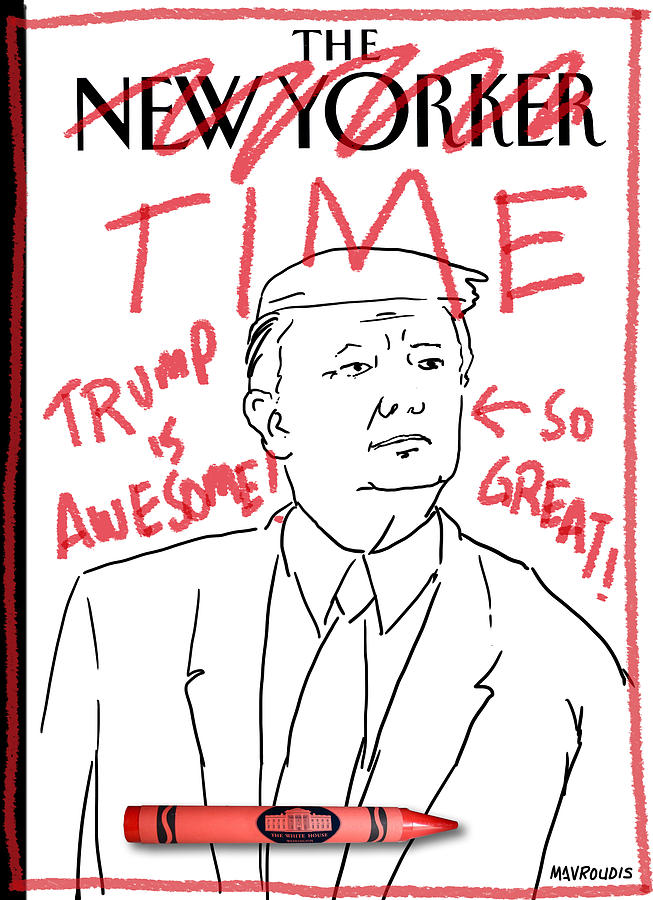 Trump Time Drawing by John Mavroudis