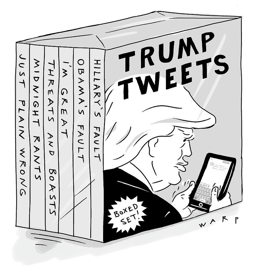 Trump Tweets Boxed Set Drawing by Kim Warp