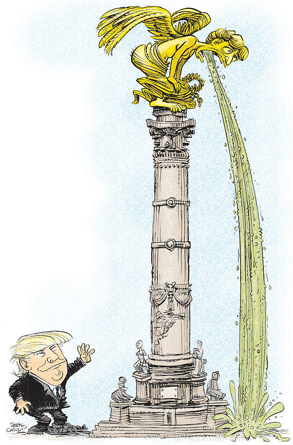 Trump Visits Mexico by Daryl Cagle