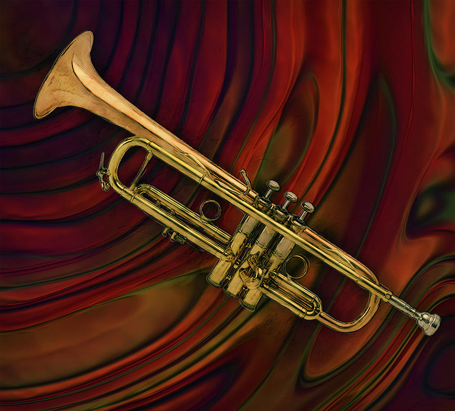 Miles Painting - Trumpet 2 by Jack Zulli
