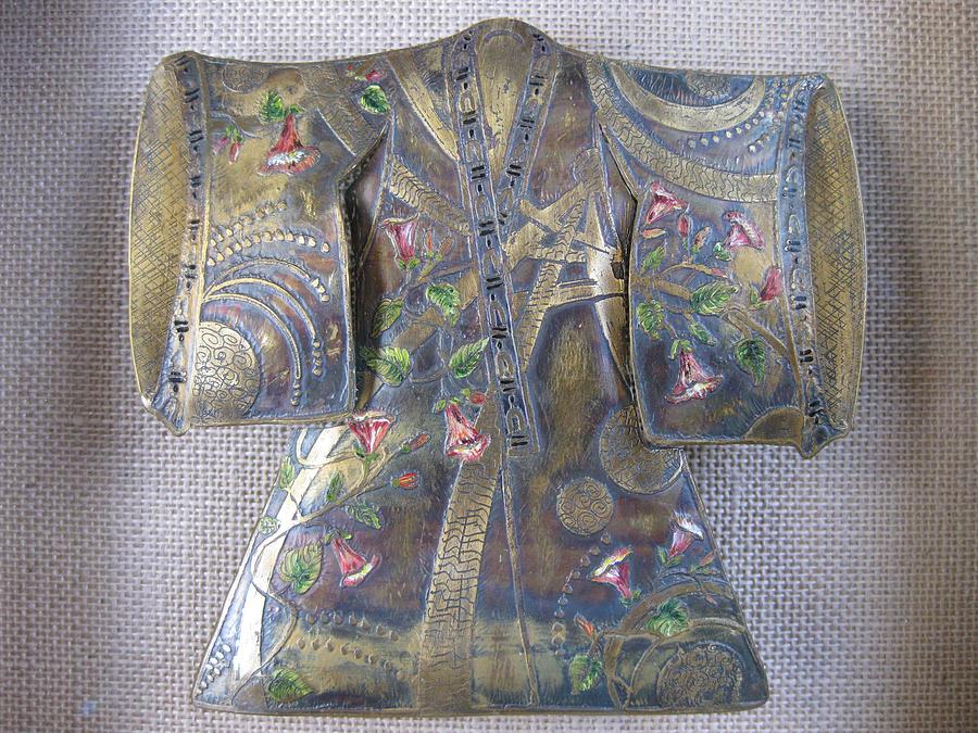 Kimono Relief - Trumpet Kimono by Brenda Berdnik