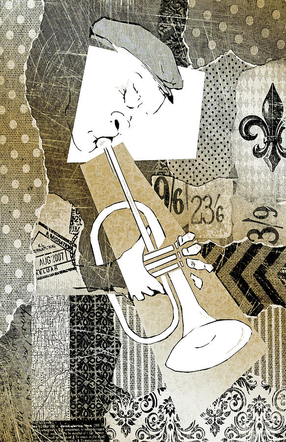 Horn Player Digital Art - Trumpet Man by Regina Wyatt