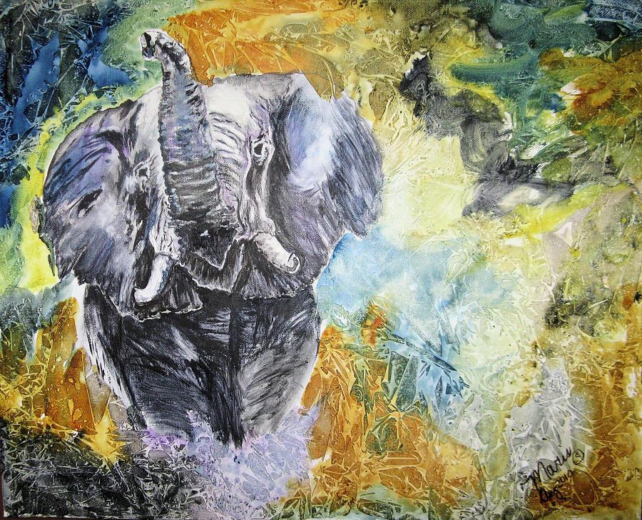 Animals Painting - Trumpet by Maris Sherwood
