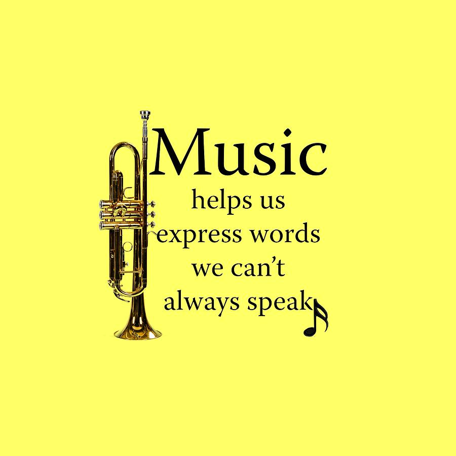 Trumpet Music Expresses Words Photograph by M K Miller
