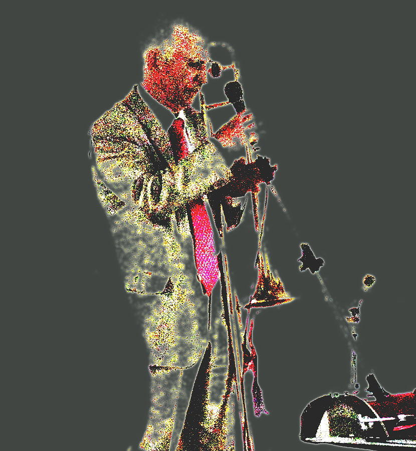 Jazz Digital Art - Trumpeter  by Yury Bashkin