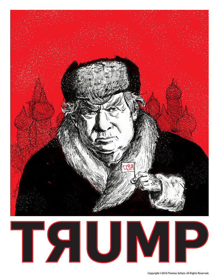 Politics Drawing - Trumpski by Thomas Seltzer