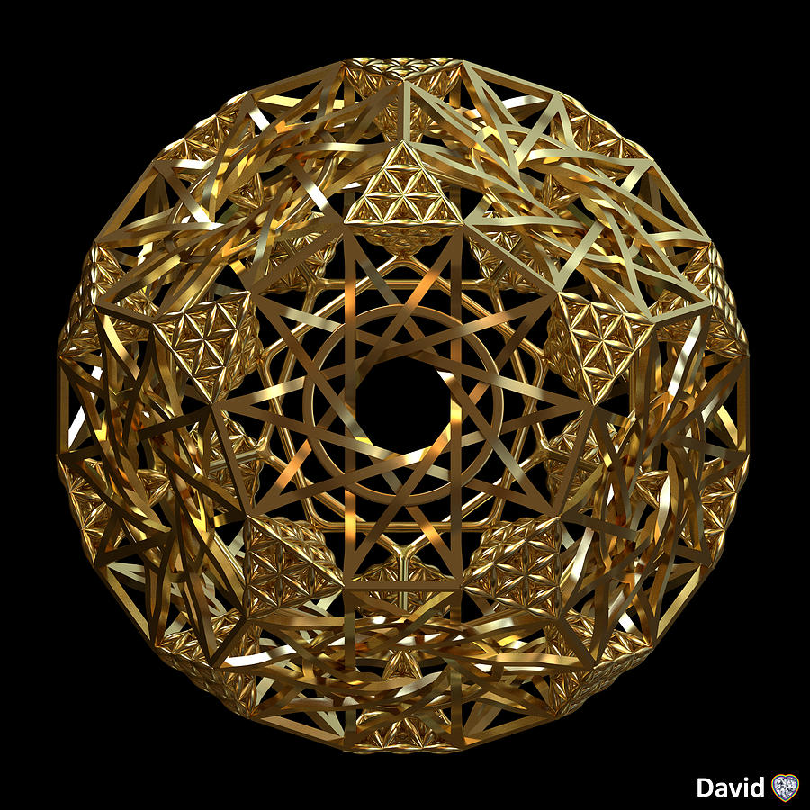 Dodecahedron Digital Art - Truncated Hyper Dodecahedron by David Diamondheart
