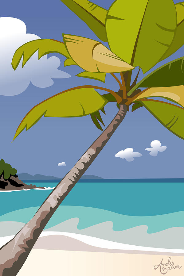 Beach Digital Art - Trunk Bay by Andy Bauer