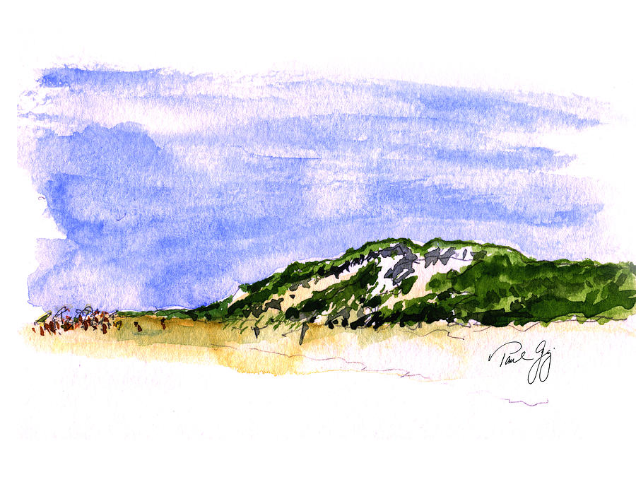 Truro Painting - Truro Beach Cape Cod by Paul Gaj