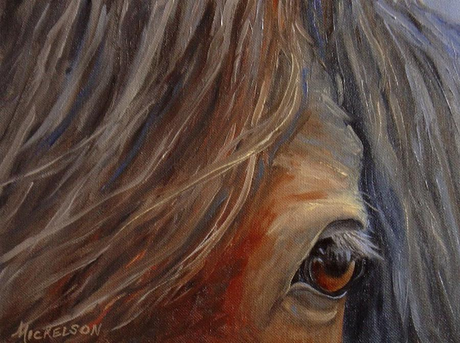 Horse Painting - Trust by Debra Mickelson
