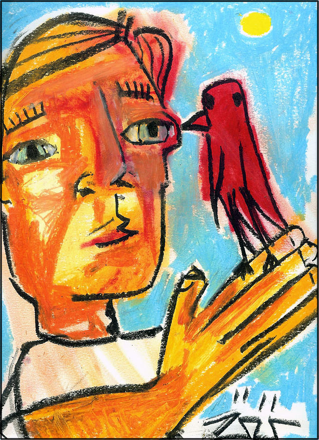 Neo-expressionism Painting - Trust by Robert Wolverton Jr