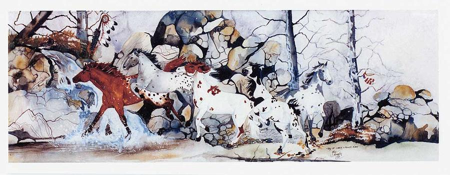 Horses Painting - Try To Catch A Ponys Fire by Kay Murphy