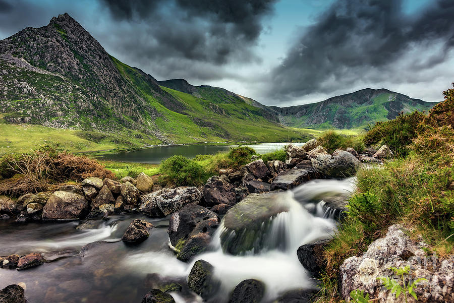 Tryfan Mountain Photograph - Tryfan And Ogwen Lake by Adrian Evans