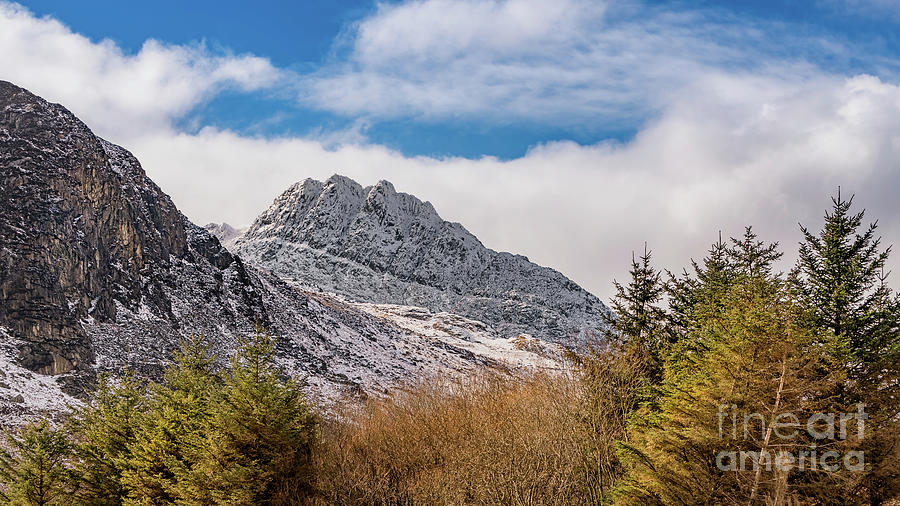 Tryfan Mountain Photograph - Tryfan Mountains East Face by Adrian Evans