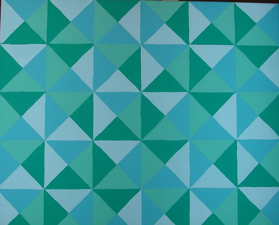 Triangles Painting - Trying Any Angle by Gay Dallek