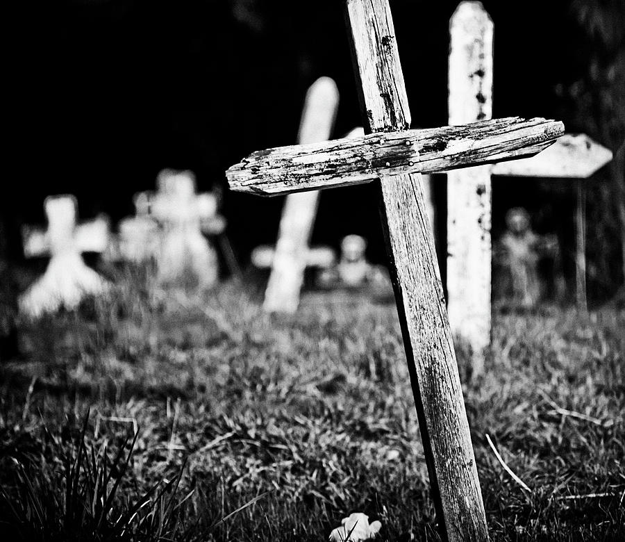 Cemetery Photograph - Trying To Find My Way  by  Kelly Hayner