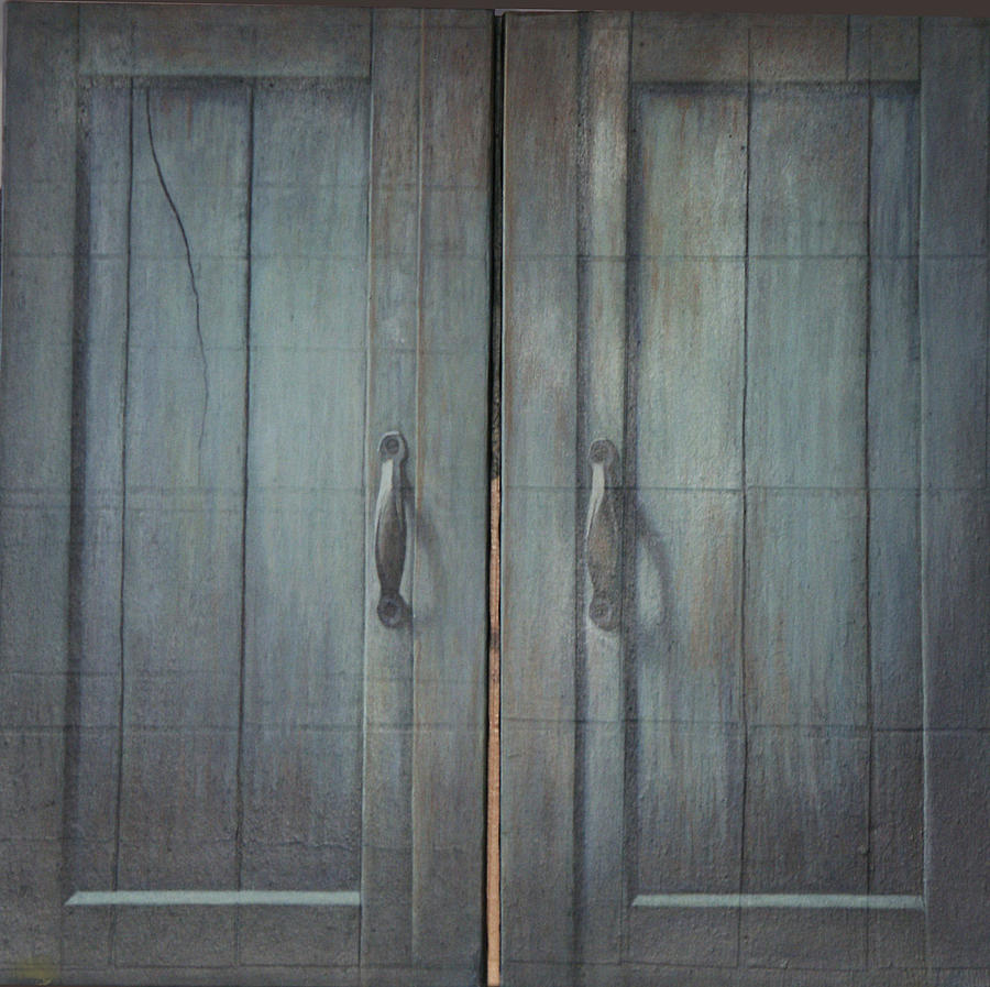 Tryptych Closed Painting by James LeGros