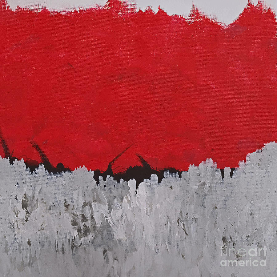 Red Painting - Tryst by KR Moehr