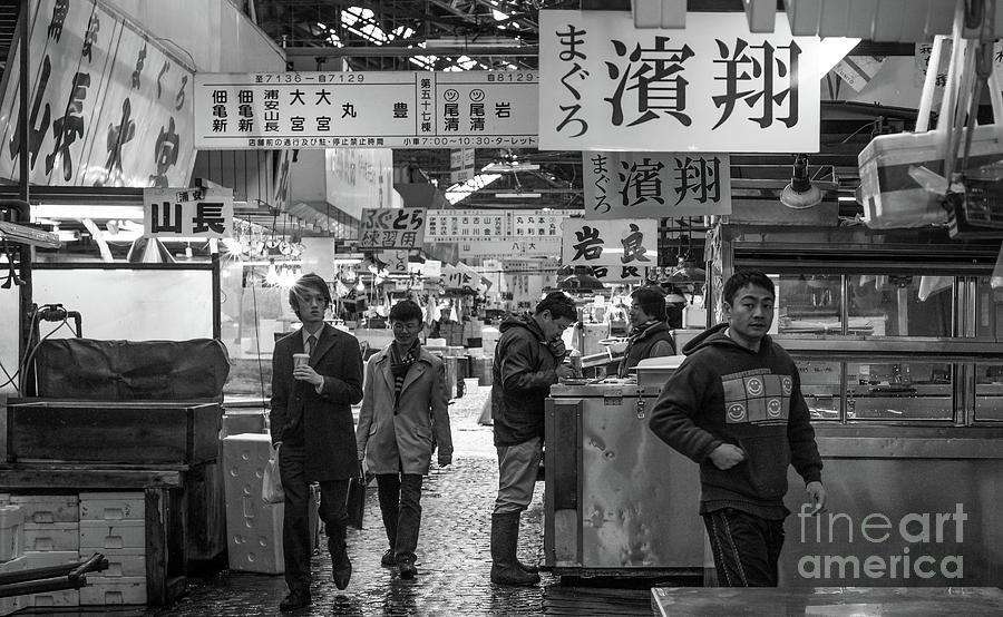 Tsukiji Shijo, Tokyo Fish Market, Japan 2 by Perry Rodriguez