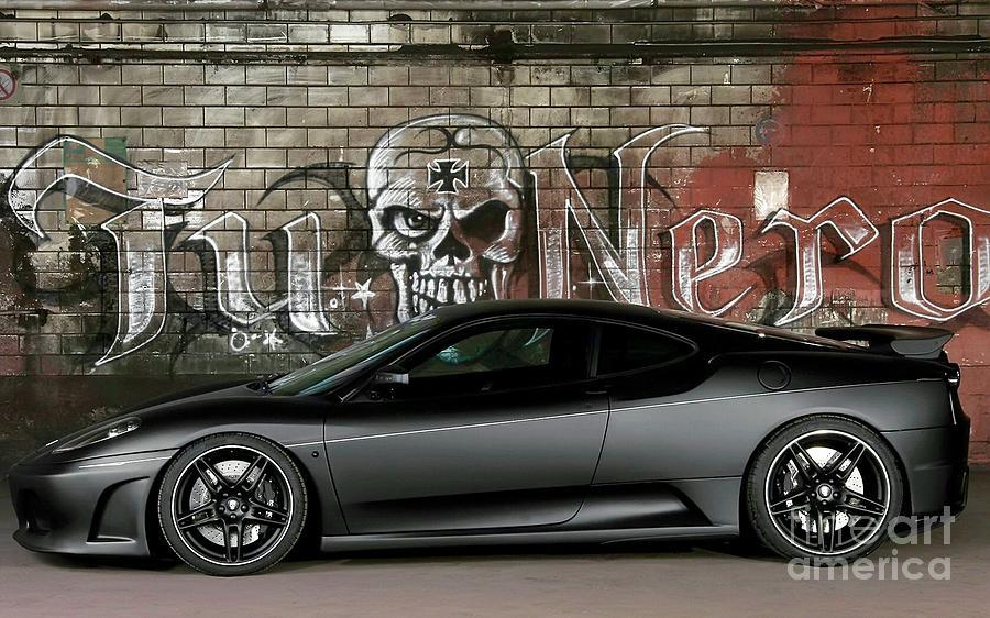 Automotive Photograph - Tu Nero  by EliteBrands Co