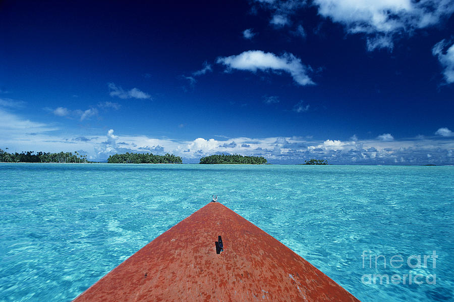 Blue Photograph - Tuamotu Islands, Raiatea by William Waterfall - Printscapes