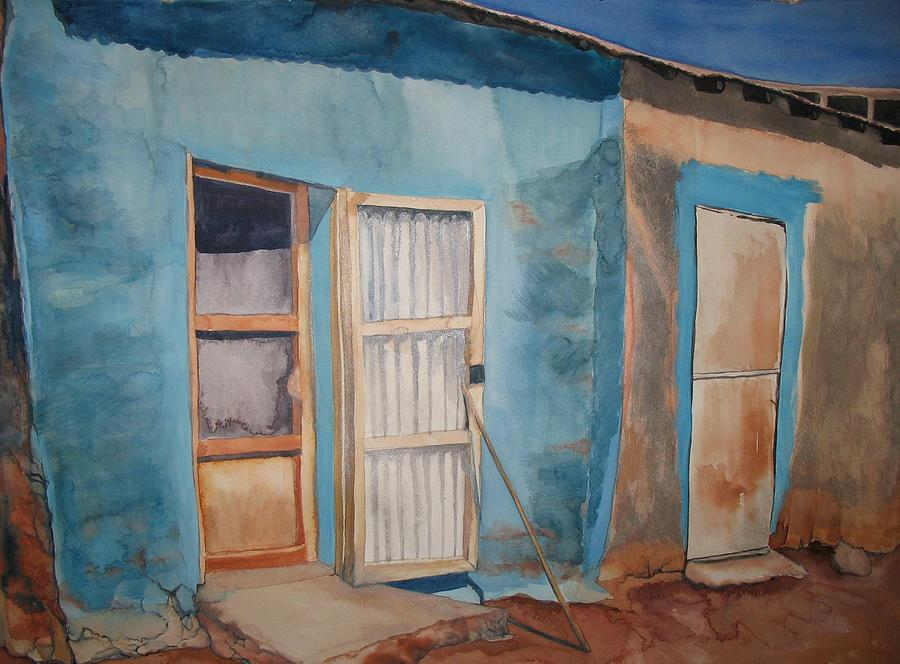 Watercolor Painting - Tubab House by Caron Sloan Zuger