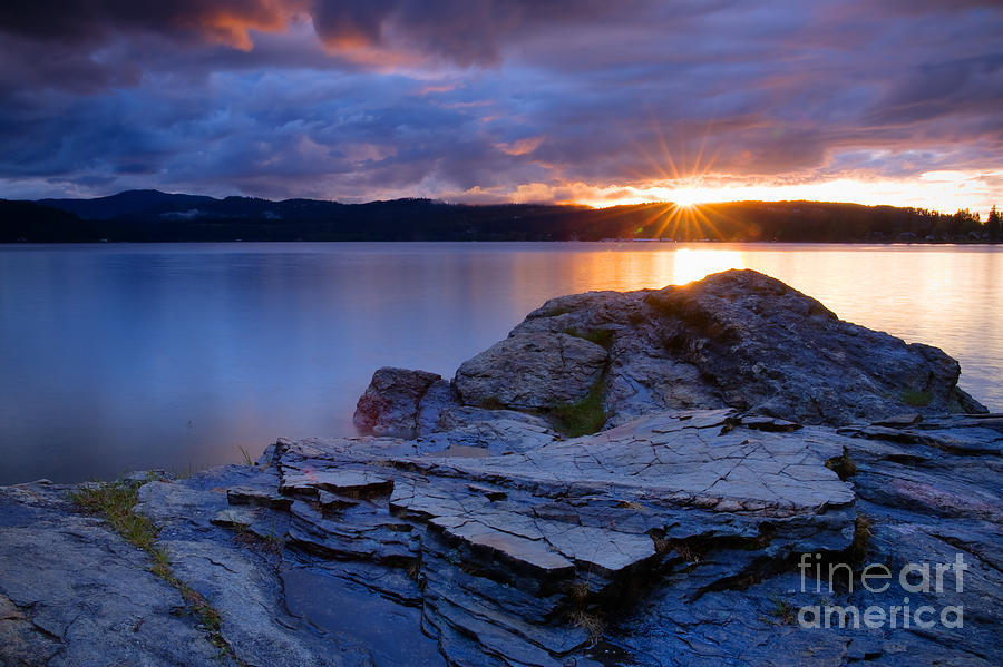 Rocks Photograph - Tubbs Hill Sunset by Idaho Scenic Images Linda Lantzy