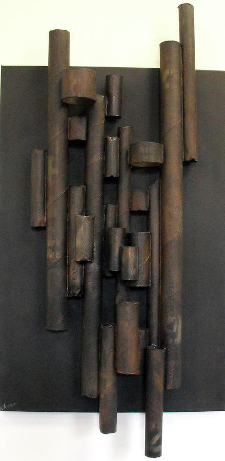 Cardboard Relief - Tube by Ralph Levesque