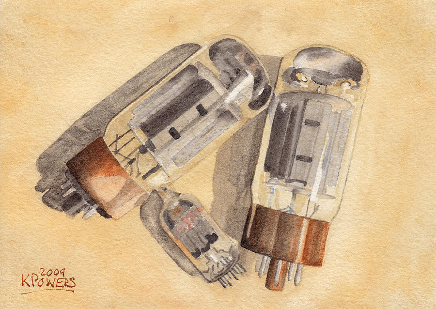 Vacuum Painting - Tubes by Ken Powers