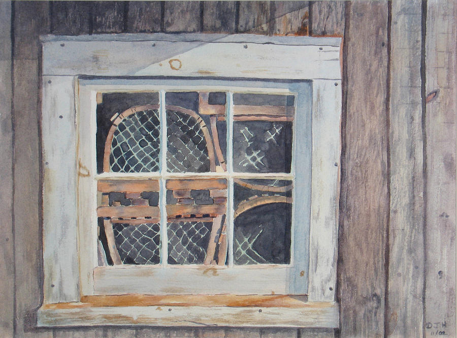 Lobster Traps Painting - Tucked Away by Debbie Homewood