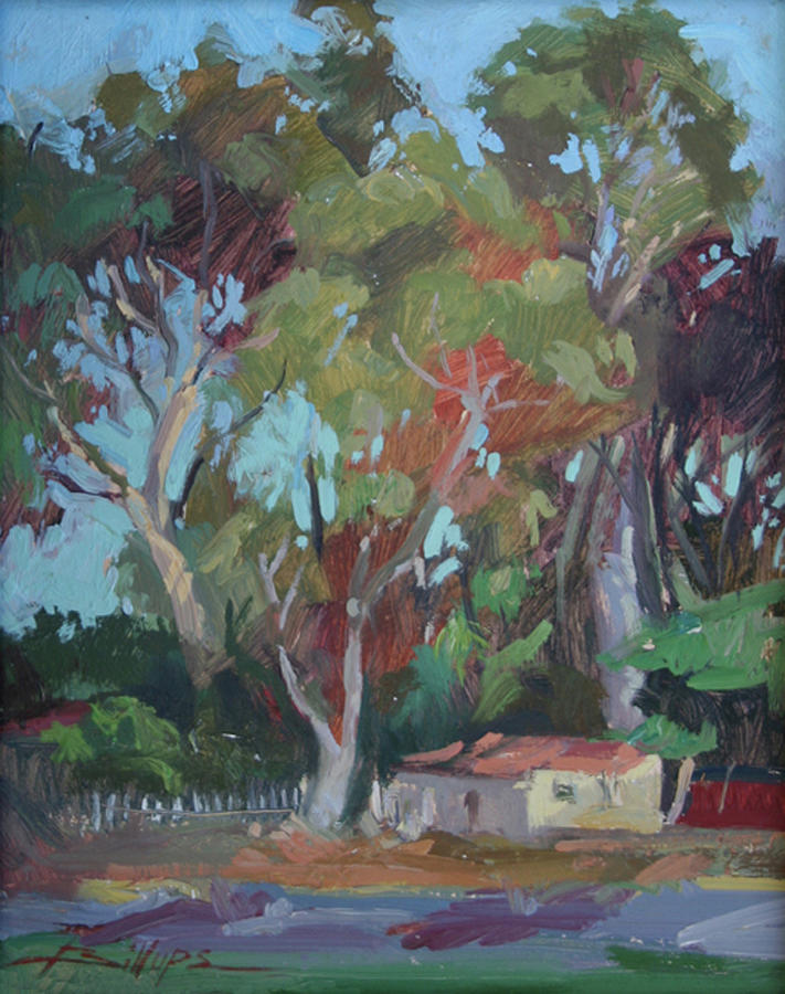 Plein Air Painting Painting - Tucked Away Catalina Island - Plein Air by Betty Jean Billups