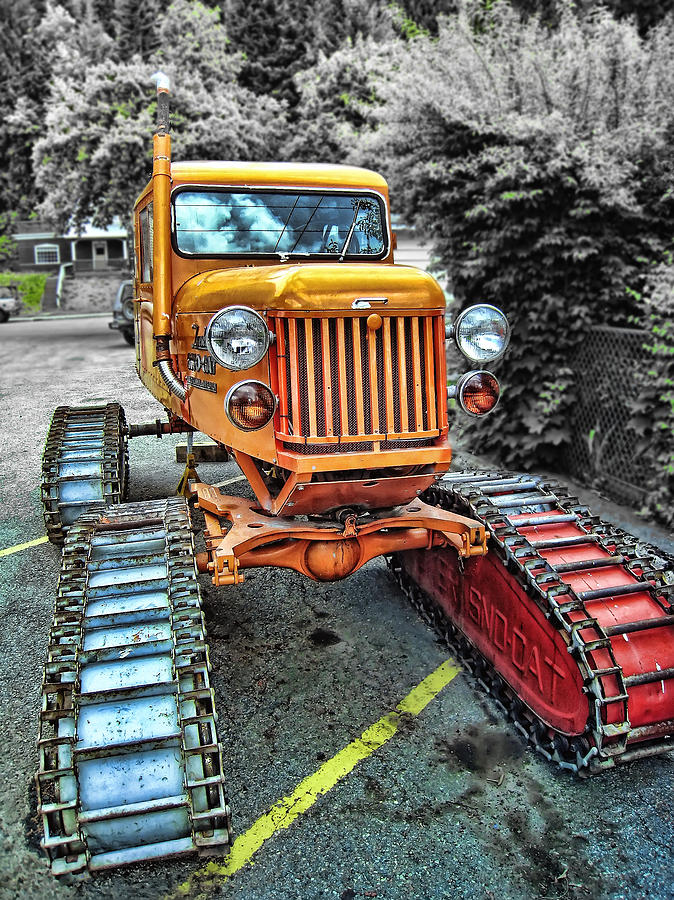 Tractor Photograph - Tucker Sno Cat -- Wallace Idaho by Daniel Hagerman
